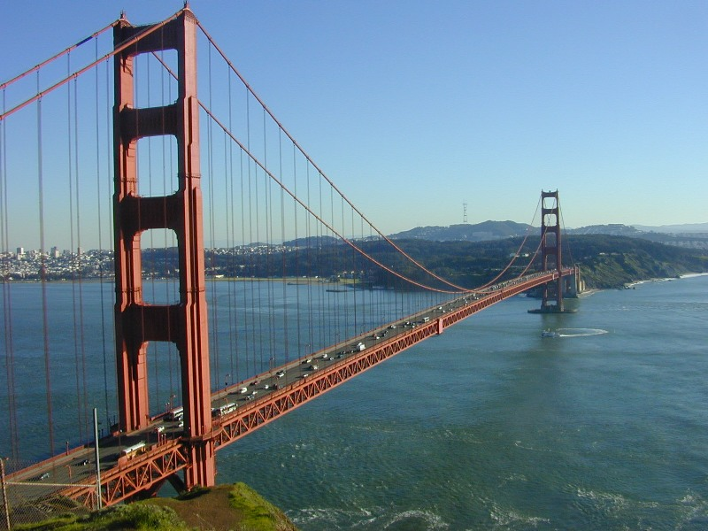 A Golden Gate Bridge View from Battery Spencer