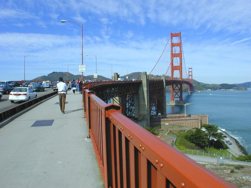 how high is the golden gate bridge over the water
